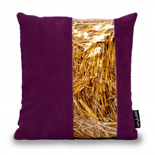 Cuscino viola in paglia come idea regalo originale