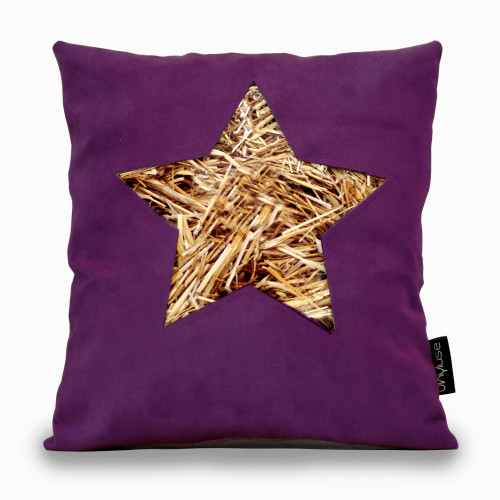 Cuscino stella viola
